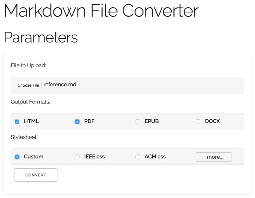 Markdown File Converter