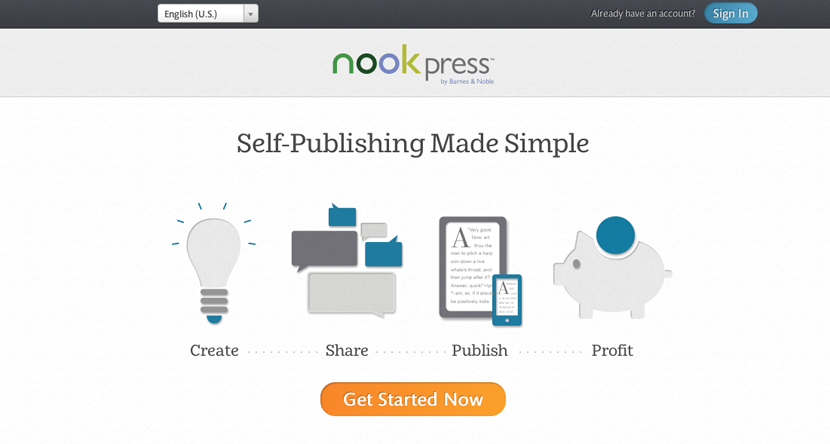 Nook Press home page