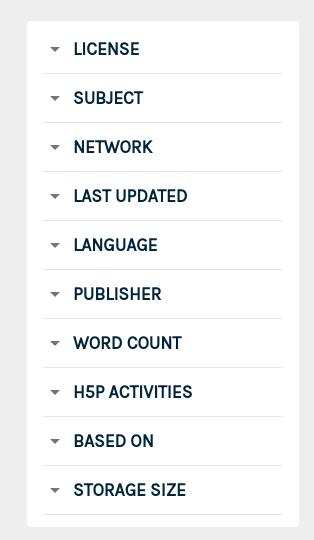 Pressbooks Directory Filters