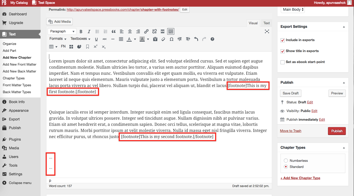 Converted footnotes and ellipses to delete
