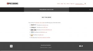 The Buy Book page showing links to online retailers