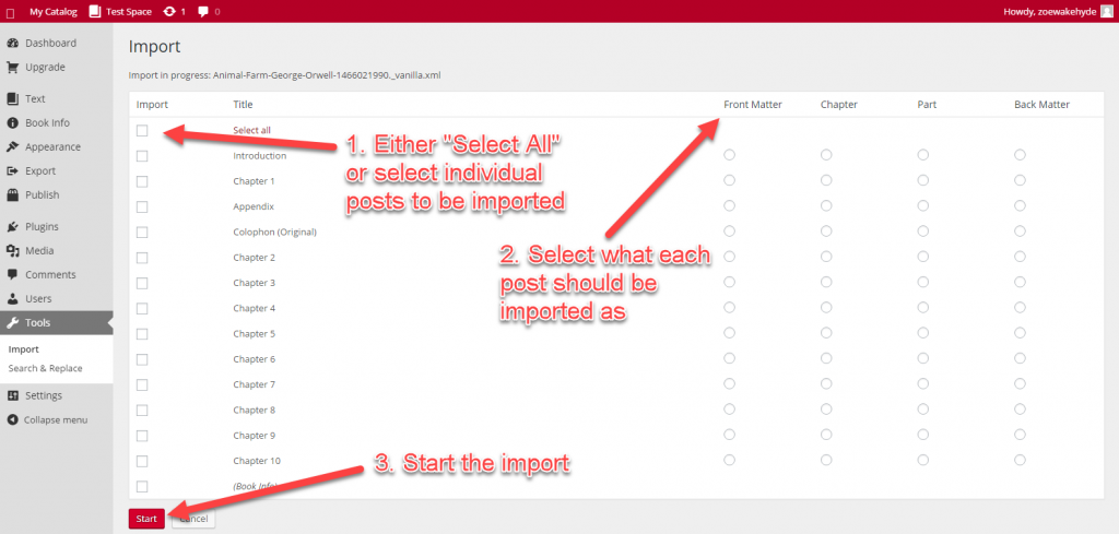 Selecting and categorizing posts
