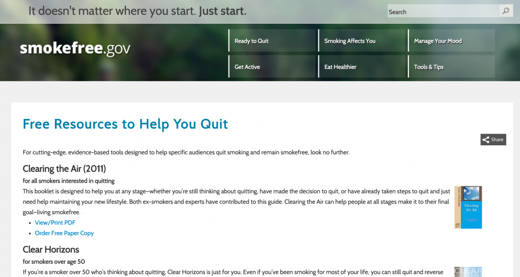smokefree.gov screenshot