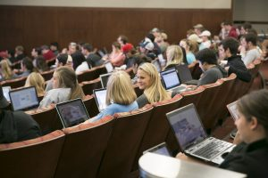 Image of students in lecture class